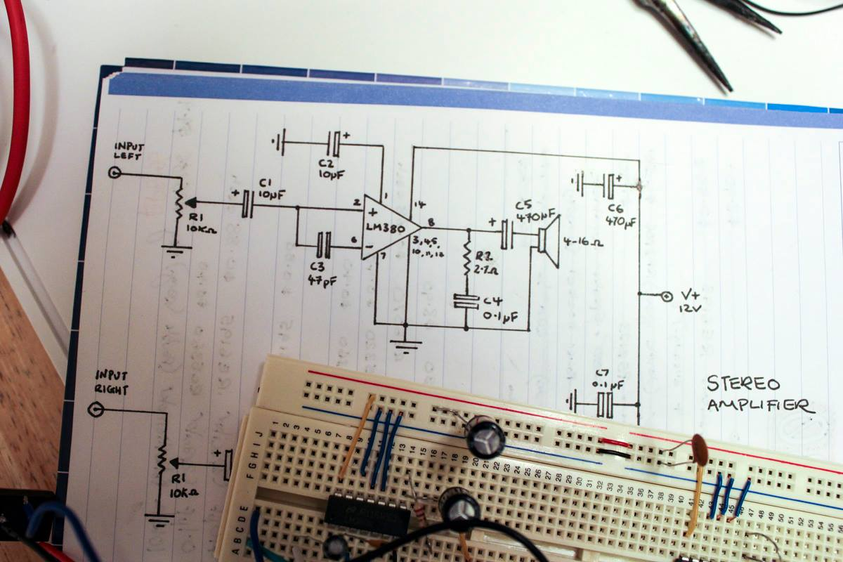 Building The Amplifier On A Breadboard